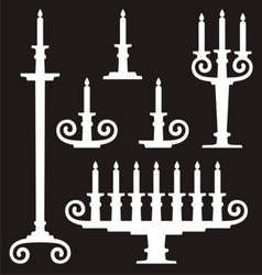 candle stands vector image vector image