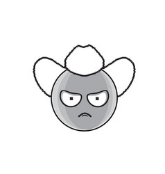 Cartoon face angry country man people emotion icon vector