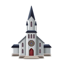 catholic church isolated on white vector image