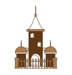 church building icon vector image