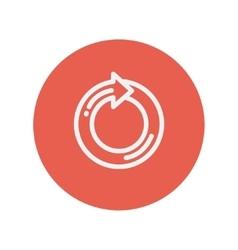 Circular arrow thin line icon vector image