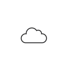 cloud icon line style vector image