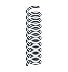 Coil spring steel spring metal spring on white ba vector
