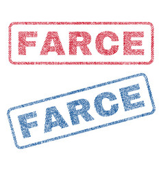 Farce textile stamps vector