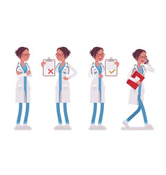 Female doctor at work vector