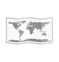 folded world map flat style vector image vector image