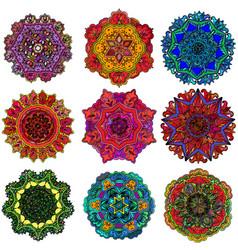 geometric ornament design concentric circles vector image