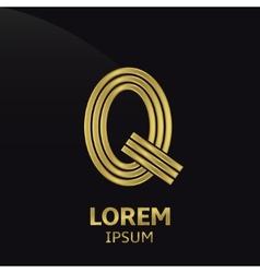 Golden letter symbol vector image