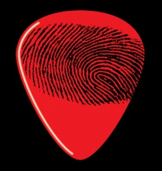 guitar pick fingerprint vector image