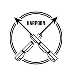Harpoon design vector