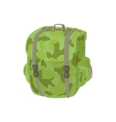Hunting backpack icon cartoon style vector image