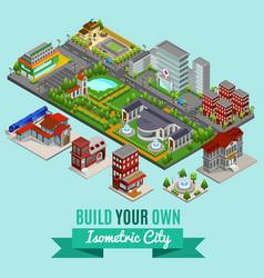 Isometric city creation concept vector