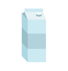 Juice box paper packaging for milk isolated vector