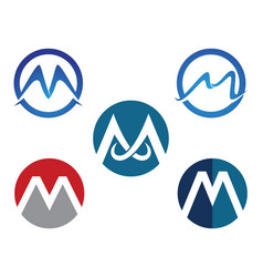 letter m icons such logos template vector image vector image