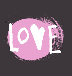 Love - hand drawn brush lettering vector