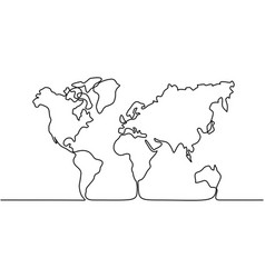 map of the earth vector image