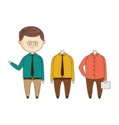 Office worker wardrobe set vector