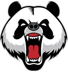 panda head mascot vector image vector image