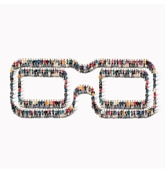 People shape 3d glasses icon vector