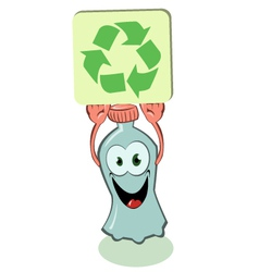 Plastic bottle pro recycling vector