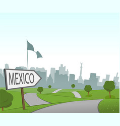 Road to mexico city vector