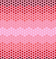 Seamless hearts zigzag pattern vector