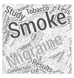 Smoking and migraines word cloud concept vector