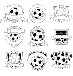 soccer badge vector image vector image