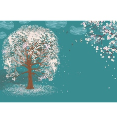 Tree in bloom vector image vector image