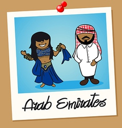 United Arab Emirates travel polaroid people vector image vector image