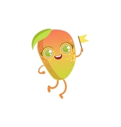 Mango girly cartoon character vector