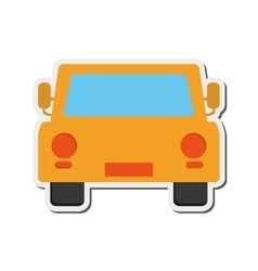 Car frontview icon vector