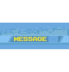 Yellow pixel massage screen on blue background vector