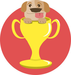 Trophy dog vector