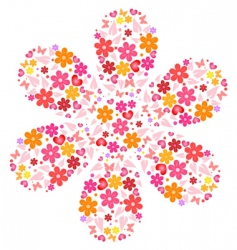 Flower shape vector