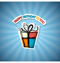 Happy birthday blue background vector