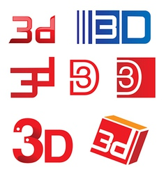 3d symbol set vector