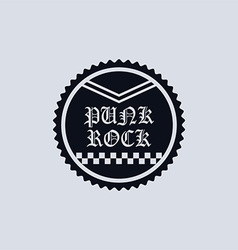 Punk label vector