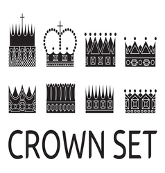 Crown set1 vector