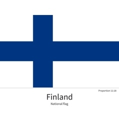 National flag of finland with correct proportions vector