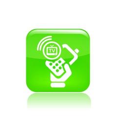 phone tv icon vector image