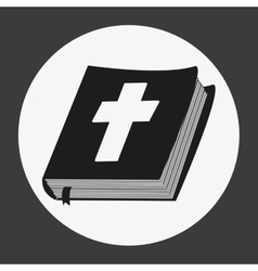 Bible design book icon flat vector