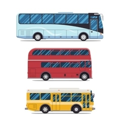 Bus sity transportation modern flat design vector