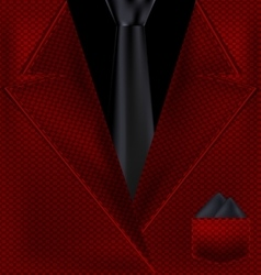 Abstract black and red suit vector