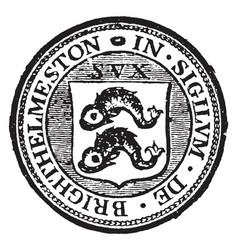 A seal representing the city of brighton england vector