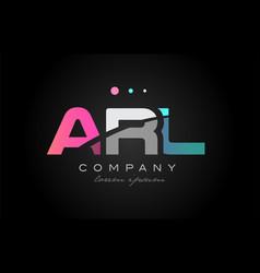 Arl a r l three letter logo icon design vector