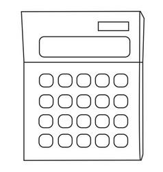 Cartoon image of calculator icon mathematics vector