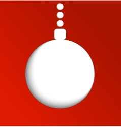 Christmas ball made of paper Winter vector image
