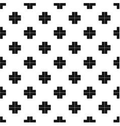 Crossroad pattern vector