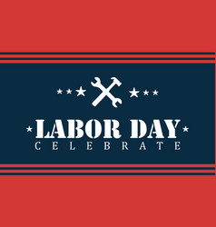 Design labor day background style vector